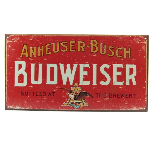Budweiser Weathered Tin Bar Sign 1