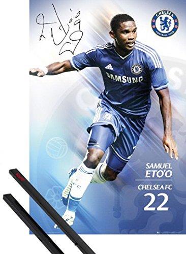 poster-suspension-football-poster-91x61-cm-chelsea-etoo-13-14-et-kit-de-fixation-noir-1art1r