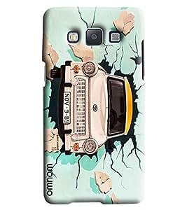 Omnam Taxi Printed Designer Back Cover Case For Samsung Galaxy E7