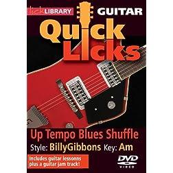 Up Tempo Blues Shuffle-Quick Licks
