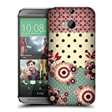 Head Case Designs Pink Cream Floral Dots Protective Snap-on Hard Back Case Cover for HTC One M8