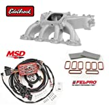 Edelbrock Victor Jr Intake 29087, MSD 6010 Ignition Controller & Fel-Pro Gasket Kit MS92438