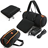 Soft Travel Carrying Case For JBL Xtreme - MASiKEN Protective Carry Case Cover Pounch Bag for JBL Xtreme Portable Wireless Bluetooth Speaker (Black) (Color: Black)