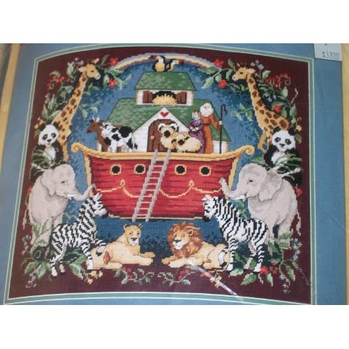 Amazon.com: Sunset Needlepoint Noah's Ark Tapestry Kit