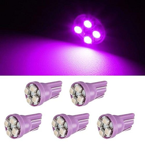 Partsam 5x4-3528-SMD 194 Purple LED bulb for Cab Marker Roof Running Top Clearance Light (2004 F250 Cab Lights compare prices)