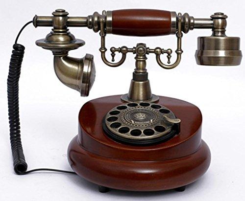 xie-home-office-antique-rotatif-telephone-rouge-sans-batterie