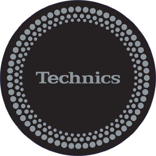 Technics-DMC-Tappetino-per-giradischi-1-paio-colore-neroargento