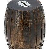 Antique Inspired Barrel Shaped Wooden Money Holder Coin Bank for Kids