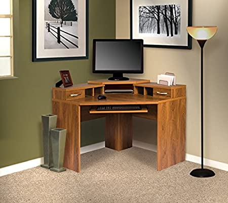 A Computer Corner Desk Unit Makes the Perfect Home Office Work Station or a Great Bedroom Laptop/homework Area
