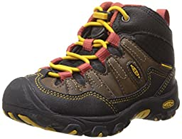 KEEN Pagosa Mid WP Hiking Shoe (Toddler/Little Kid), Cascade Brown/Tawny Olive, 12 M US Little Kid