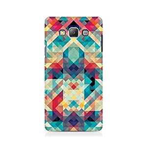 Ebby Abstract Criss Cross Premium Printed Case For Samsung On 7