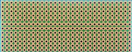 SB300 Solderable PC BreadBoard - 1 Sided PCB - matches 300 tie-point breadboards - 120 x 300 in 305 x 762 mm