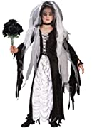 Fun World Coffin Bride Child Costume Black/White Large (12-14)