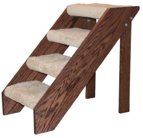 Premier Pet Steps Tall Open Riser Steps, Carpeted Tread with a Rich Cherry Stain, 24-Inch at Sears.com
