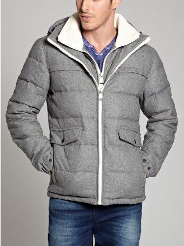 GUESS Men's Wool Puffer Jacket