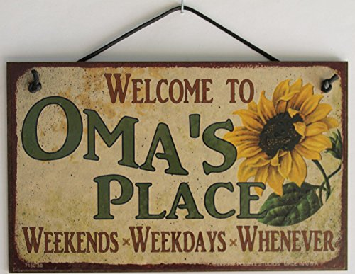 5x8-vintage-style-sign-with-sunflower-saying-welcome-to-omas-place-weekends-weekdays-whenever-decora