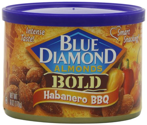 Blue Diamond Almonds Bold Habanero Bbq, 6-Ounce (Pack Of 6)