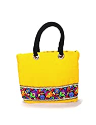 Arisha Kreation Co Women Hand Bag (Yellow)