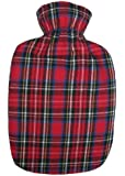 Warm Tradition Red Tartan Cotton Flannel Hot Water Bottle Cover - COVER ONLY- Made in USA