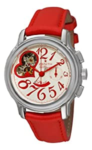 Zenith Women's 03.1230.4021/01.C538 Star Open El Primero Silver and Red Dial Watch from Zen Awakening