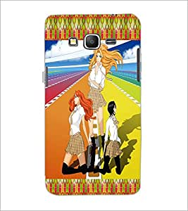 PrintDhaba Girls Gang D-2485 Back Case Cover for SAMSUNG GALAXY GRAND PRIME (Multi-Coloured)