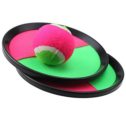 AGPtek Velcro Ball and Catch Game Set for Kids with Ball & Grip Mitts - 1