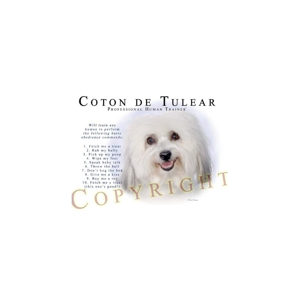 68792f497e1eb Coton de Tulear Human Trainer Mouse Pad Dog Mousepad on PopScreen