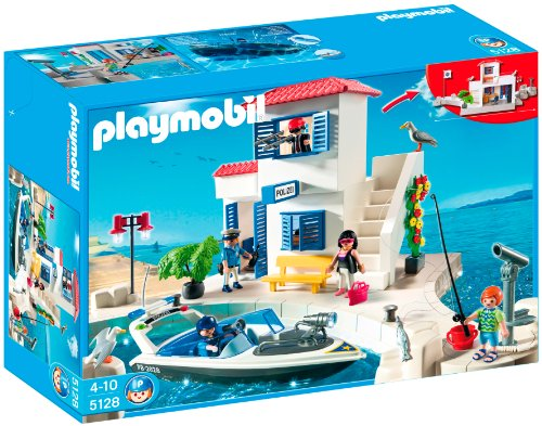 Playmobil Harbor Police Station With Speedboat front-898722