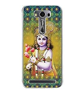 ifasho Designer Phone Back Case Cover Asus Zenfone 2 Laser ZE550KL (5.5 Inches) ( Blue Grey Green Flower Pattern Design )