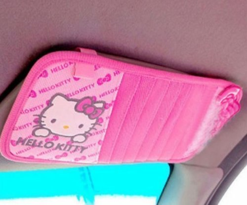 Hello Kitty Car Cd/dvd Folder Cd Clip (Butterfly Pattern) (Hello Kitty Cd Car compare prices)