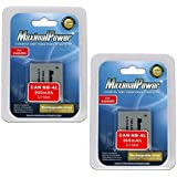 Maximal Power DB CAN NB4L X2 Replacement Battery, 2-Piece (Black)