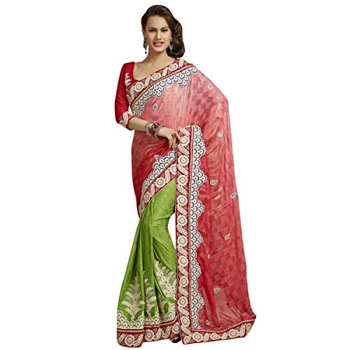 Aagaman Fashion Cotton Jacquard Jute Silk Sarees (TSPL3109_Green)