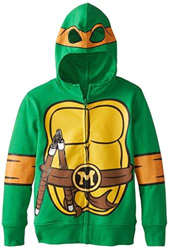 Teenage Mutant Ninja Turtles Little Boys' Character Hoodie, Shell Green, 5/6 (Kids Ninja Turtle Sweatshirt compare prices)