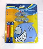 Zoggs Kids Swimming Pack 3-6 Years 2 x Goggles 2 x Dive Sticks Shark Swimming Cap