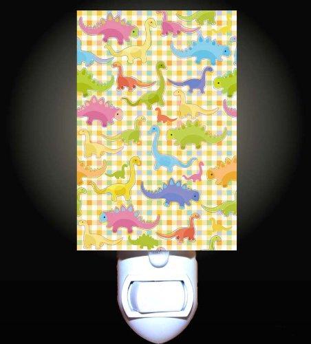 Gingham Dinosaurs Decorative Night Light front-1016821