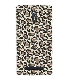 Leopard Pattern 3D Hard Polycarbonate Designer Back Case Cover for Oppo Find 7