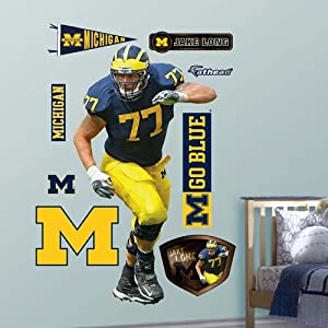 NCAA Michigan Wolverines Jake Long Wall Graphic by Fathead