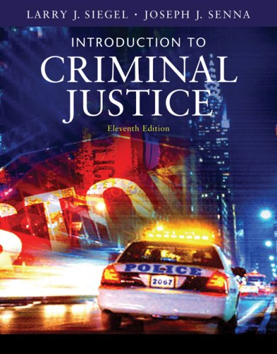 Introduction to Criminal Justice (Available Titles...