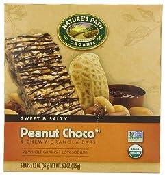 Nature\'s Path Organic Granola Bars, Peanut Choco\', 5-Count Boxes, 1.2oz,  (Pack of 6)