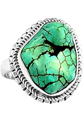 Xtremegems Stablized Blue Turquoise 925 Sterling Silver Ring Jewelry Size 6 714R