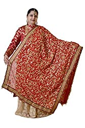 Dulhan Choice Red color Jaipuri Nazrana Bridal Dupatta