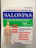 Salonpas Pain Relieving Patch - 140 Count (One Package of 140 Patches)