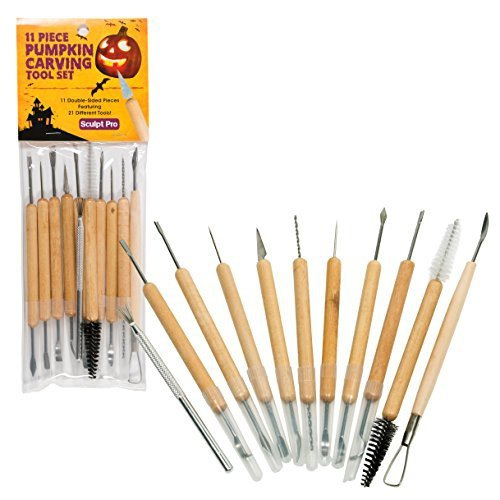 Sculpt Pro Pumpkin Carving Tools- Halloween Sculpting Kit with 11 Double Sided (2016 Pumpkin Carving Ideas)