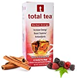 Herbal RED Energy Tea. Dr Recommended Appetite Suppressant. 25 Day Supply. Foil Wrapped for Freshness. 5 All Natural Herbs for Energy and Focus. Delicious Cinnamon Berry Aroma. Natural Caffeine Energy