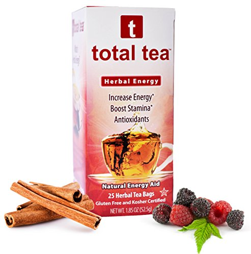 Herbal RED Energy Tea. Dr Recommended Appetite Suppressant. 25 Day Supply. Foil Wrapped for Freshness. 5 All Natural Herbs for Energy and Focus. Delicious Cinnamon Berry Aroma. Natural Caffeine Energy (Crystal Ice Weight compare prices)