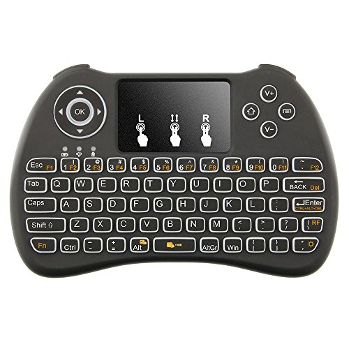 Tritina Wireless Keyboard and Mouse Qwerty Touchpad Compatible with android Windows OS for Pc Tablet TV Box IPTV Built-in Backlight (Mobile Keyboard Touchpad compare prices)