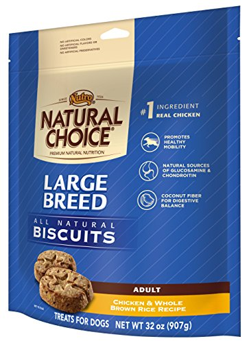 NUTRO NATURAL CHOICE Large Breed Adult Dog Treats, Chicken and Whole Brown Rice, 32 oz. (Nutro Natural Choice Dog Treats compare prices)