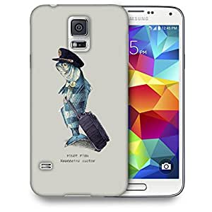 Snoogg Pilot Fish Designer Protective Back Case Cover For SAMSUNG GALAXY S5