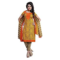 Shree Hari Creation Women's Poly Cotton Unstitched Dress Material (248_Multi-Coloured_Free Size)