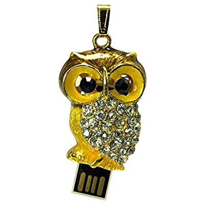16 GB Pen Drive Golden Owl Shape USB 2.0 Pen Drive CR1038